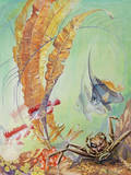 A Painting of a Japanese Marine Life Scene