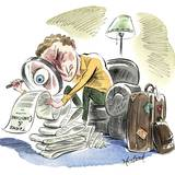 A Traveler Inspects the Fine Print on a Frequent Flyer Program