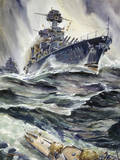 A Painting of the US Battleships  Maryland and New Mexico