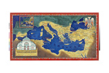 An Artist's Recreation of the Byzantine Empire under Justinian I