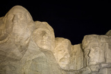 Low Angle View of Mount Rushmore at Night