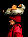 A Woman with a Goose on Her Head