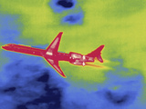 Thermal Image of an Airplane Taking Off from Reagan W National Airport