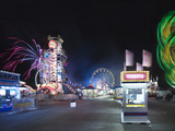 A Ticket Booth and Rides at the Minnesota State Fair