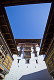 Ornately Carved Windows and Colorful Balconies in an Ancient Buddhist Monastery