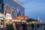 The Wildwood Beach Boardwalk at Twilight with Neon Lights