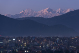 A Rare View of Kathmandu on a Very Clear Night with Views of Ganesh Himal in the Distance