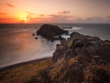 Long Exposure of Buraco Da Raquel Rock Formation on Fernando De Noronha at Sunrise