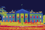A Thermal Image of the North Face of the White House