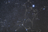 Constellation Canis Major  the Big Dog  with its Notable Star Sirius  the Brightest Star in the Nig