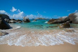 The Baths' Beach on Virgin Gorda