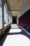 The Roll of Honour and the Names of Fallen Soldiers are Remembered with Bright Red Poppies