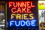 A Neon Sign on the Wildwood Boardwalk Advertising Funnel Cakes  Fries  Fudge