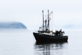 A Fishing Boat Named Thunder Bay  Anchored in Thick Fog in Frenchman Bay
