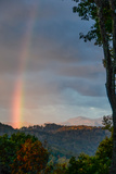 A Rare Morning Rainbow Seen in the East over the Blue Ridge Mountains