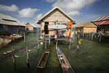 A Satellite Dish Antenna in Sampela  a Bajo Fishing Village