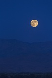 A Full Moon Rising over Rancho Mirage and Mountains