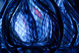 Abstract Close Up View of a Small Detail of Glass Artwork