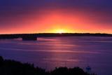 The Sun Rises over Peaks Island Off the Coast of Portland  Maine