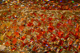 Dazzling Abstract Color in a Close Up View of a Small Detail of Glass Artwork