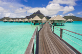 The Boardwalk to the Over-Water Bungalows at the Le Meridien Resort