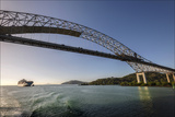 A Container Ship Passes under the Bridge of the Americas  Pacific Entrance to the Panama Canal