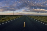 An Open Road at Sunrise on the High Desert