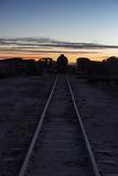 Sunset at the Train Graveyard in Uyuni  Bolivia