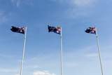 Australian Flags Billow in the Wind at the Australian War Memorial