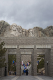 Tourists Visit Mount Rushmore in South Dakota's Black Hills