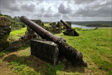 Cannons Rest on the Promontory at Fort San Lorenzo  Panama