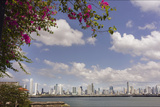 The Skyline of Panama City  Capital of Panama Glistens in the Sun Above the Pacific Ocean