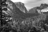 Bridalveil Fall in Evening Light  Yosemite Valley  California