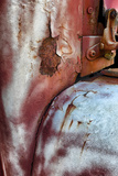 Close Up of Rust and Peeling Paint on an Old Truck