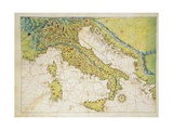 Italy  from Atlas of the World in Thirty-Three Maps  1553