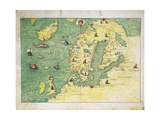 Northern Europe  from Atlas of the World in Thirty-Three Maps  1553