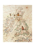 Europe: Great Britain and Ireland  from Atlas of the World in Thirty-Three Maps  1553
