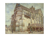 The Church at Moret  Frosty Weather  1893