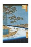 Pine of Success  Asakusa River in Edo  Pleasure Boat  1797-1858