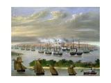 Argentinian Fleet in Channel of Paso De La Patria  April 23  1866