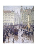 Martienplatz in Munich in the Winter of 1915  Germany 20th Century