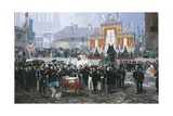 The Laying of the Cornerstone of the Galleria Vittorio Emanuele in Milan  1865