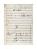 Manuscript Score for King David