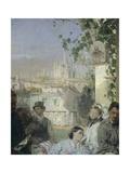News of the Peace of Villafranca  Detail  1862