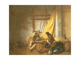 Soldiers Playing Tric-Trac  1653
