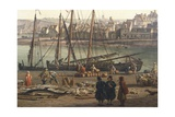 Loading Barrels of Salted Fish at the Port of Dieppe  1765