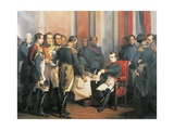 Napoleon Signing His Abdication at Fontainebleau  April 4  1814