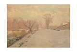 Road by the Seine at Neuilly in Winter  C1888