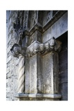 Entrance  Church of Saint Anthony Abbot  1471  Tossicia  Abruzzo  Italy  Detail