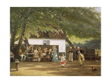 Denmark  Peoples' Festival in a Country House  1856